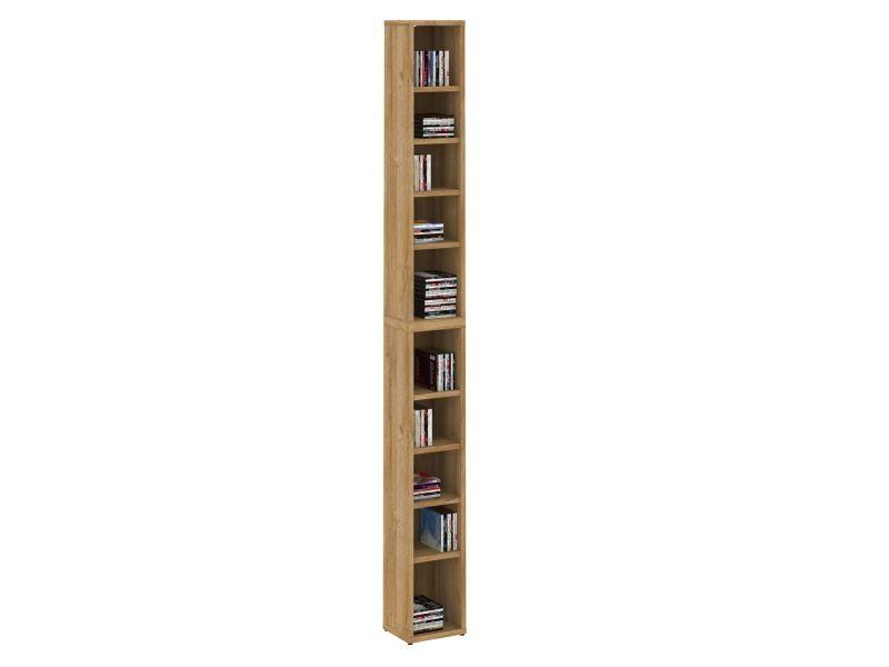 Etagères modulables musique pour cd et dvd, lot de 2 meubles de rangement en colonne avec 10 ...