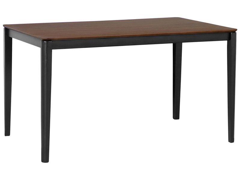 Table de salle à manger brune et noire 135 x 80 cedar 156687