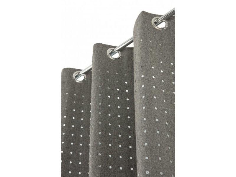 Rideau Contemporain 140 X 260 Cm à Oeillets Style Industriel Tissu
