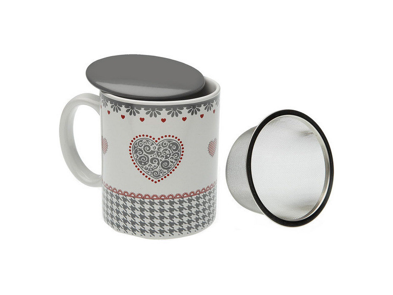 Tasses et thermos stylé tasse avec filtre pour infusions kamira porcelaine
