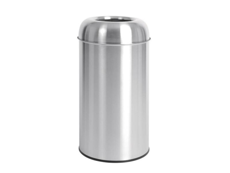 Poubelle dôme inox ouverte 40 litres - bolero - 4000 cl
