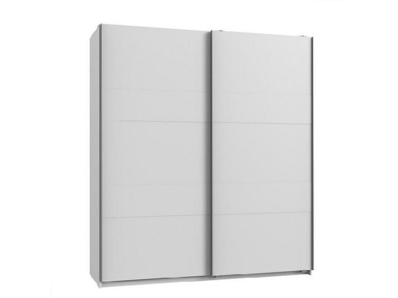 Armoire de rangement aude portes coulissantes 135 cm blanc mat 20100890986