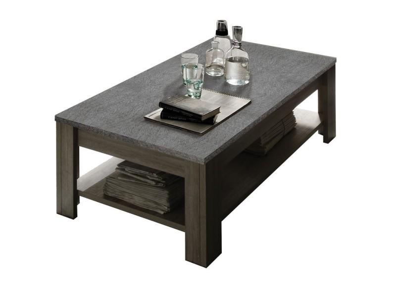 Table basse double plateau ardoise - ardesia - l 140 x l 68 x h 45 - neuf