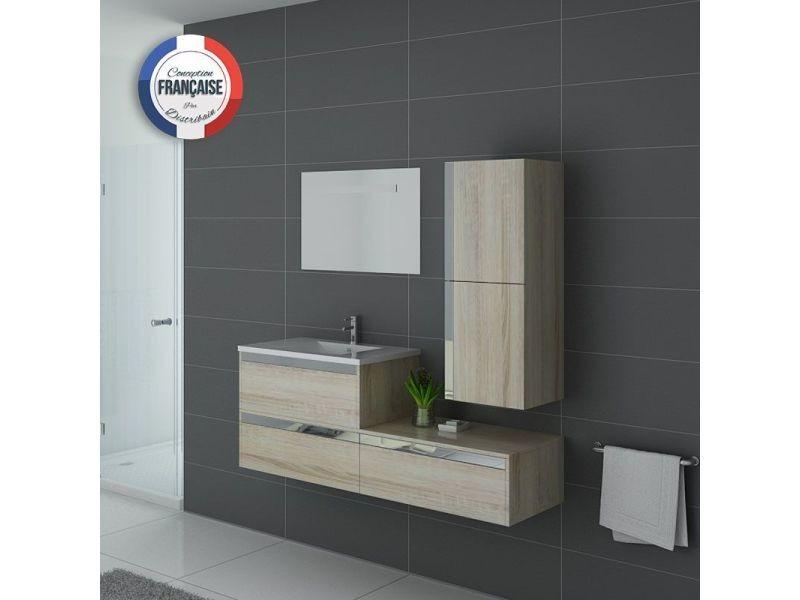 Meuble de salle de bain simple vasque sublissimo - Meuble vasque salle de bain conforama ...
