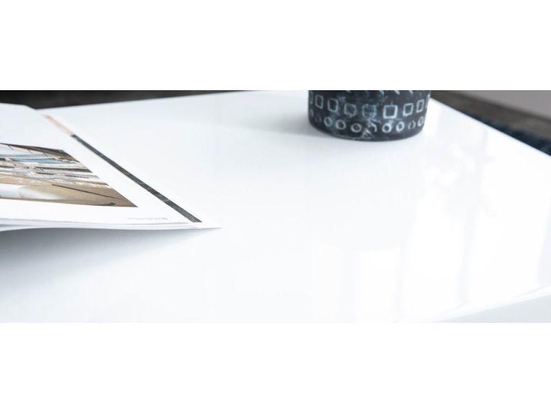 Basse Blanche Design Laquée De Table Roxy Vente WD2E9IH