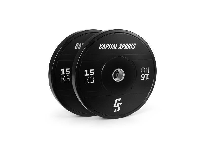 Capital sports elongate 2020 - bumper plates - 2 x 15 kg - gomme dure - 50,4 mm 1003515810035158