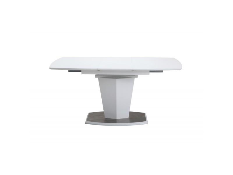 Table de repas extensible 120 à 160 cm rectangulaire - dona