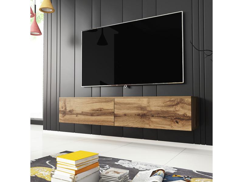Meuble tv - KANE - 140 cm - chêne wotan