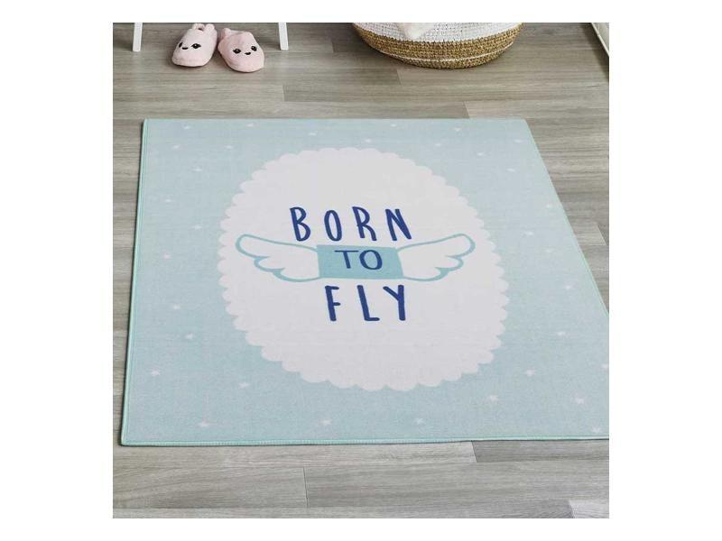 Genial Tapis Chambre Born To Fly Md Bleu 95 X 125 Cm Tapis Pour Enfants Chambre  Par Unamourdetapis