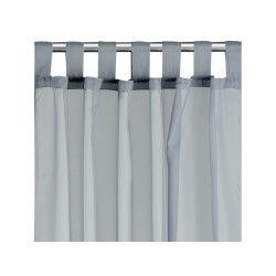 Rideau voile à pattes polyester gris 140 x 240 les ateliers du linge