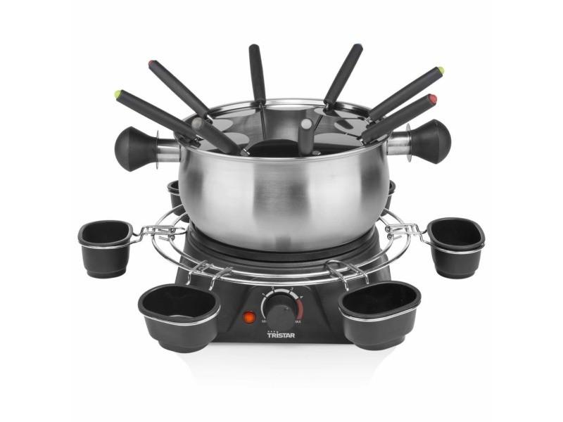 Esthetique électroménager de cuisine collection tripoli tristar ensemble à fondue 1400 w 1,3 l acier inoxydable argenté