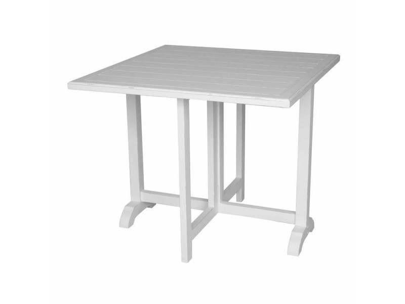Table Salle A Manger Carree En Bois Blanc Ouessant Conforama