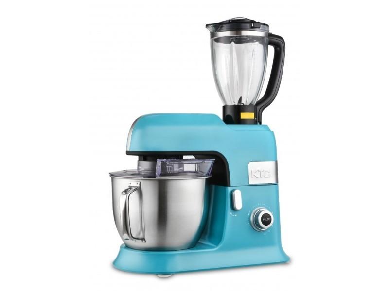 Robot petrin 6.5l kitchencook avec blender sécurise et accessoires en téflon expert_xl bleu