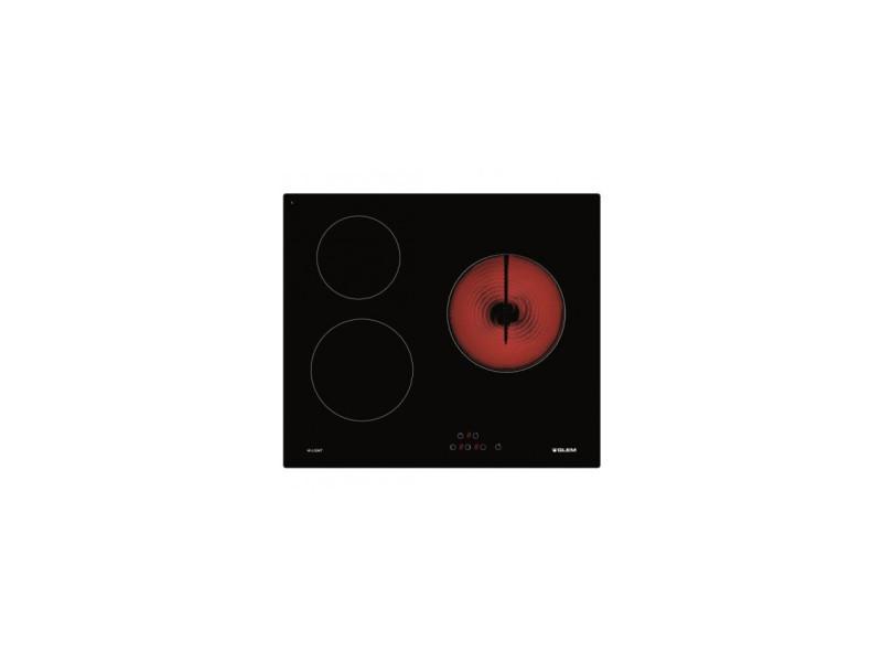 Table de cuisson vitrocéramique 59cm 3 feux 5300w noir - gth63xs gth63xs