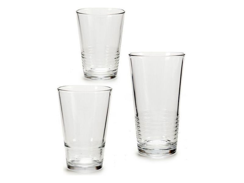 Verres et carafes sublime set de verres vivalto (17 x 40 x 25 cm) (18 pièces) 6 x (51 cl) / 6 x (34 cl) / 6 x (23 cl)