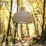 Lampe suspension en osier 44 cm