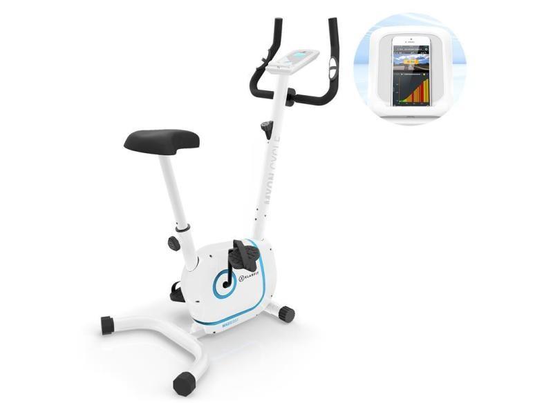 Klarfit myon cycle vélo d'appartement cardiotraining volant d'inertie 12kg blanc