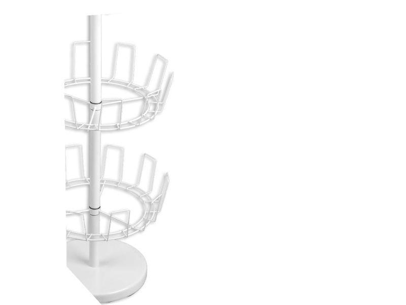 tourniquet chaussures en m tal 15 paires blanc. Black Bedroom Furniture Sets. Home Design Ideas