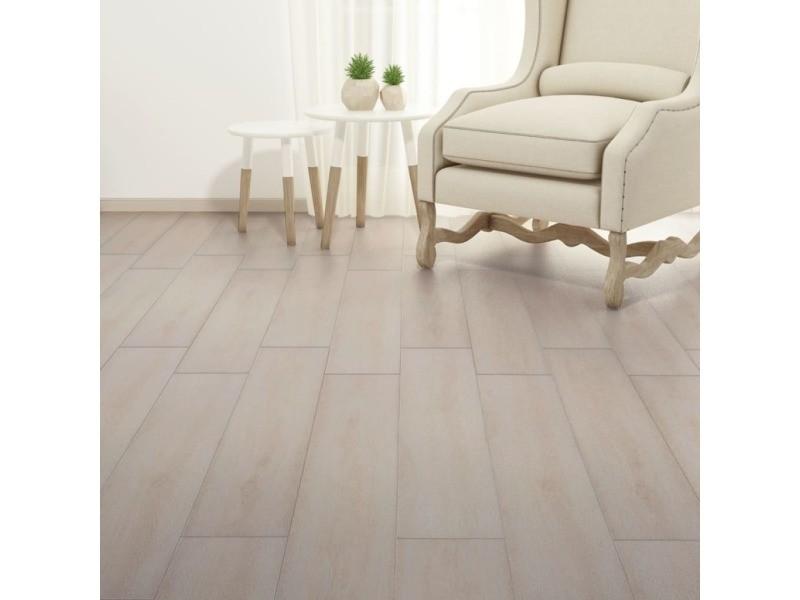 Icaverne - tapis et revêtements de sol gamme planche de plancher pvc 5,26 m² couleur de chêne blanc