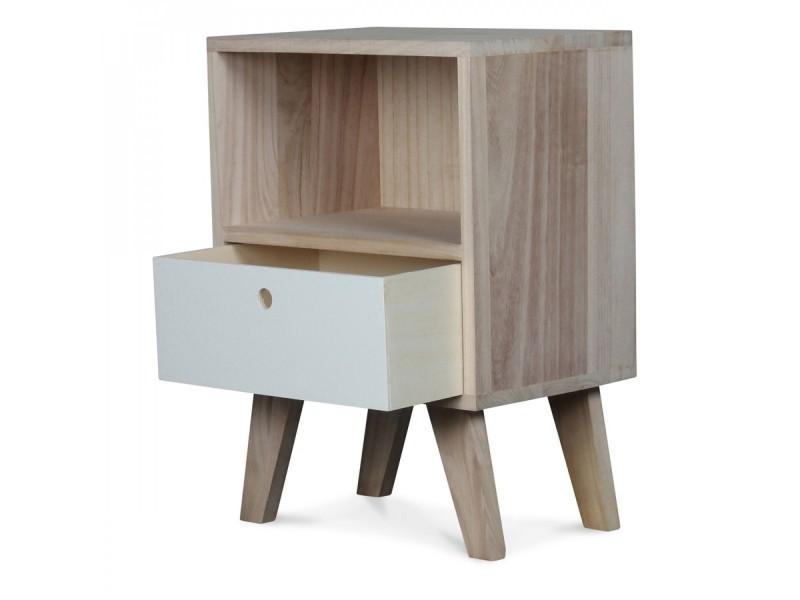 table de chevet design en bois haut 50cm vente de. Black Bedroom Furniture Sets. Home Design Ideas