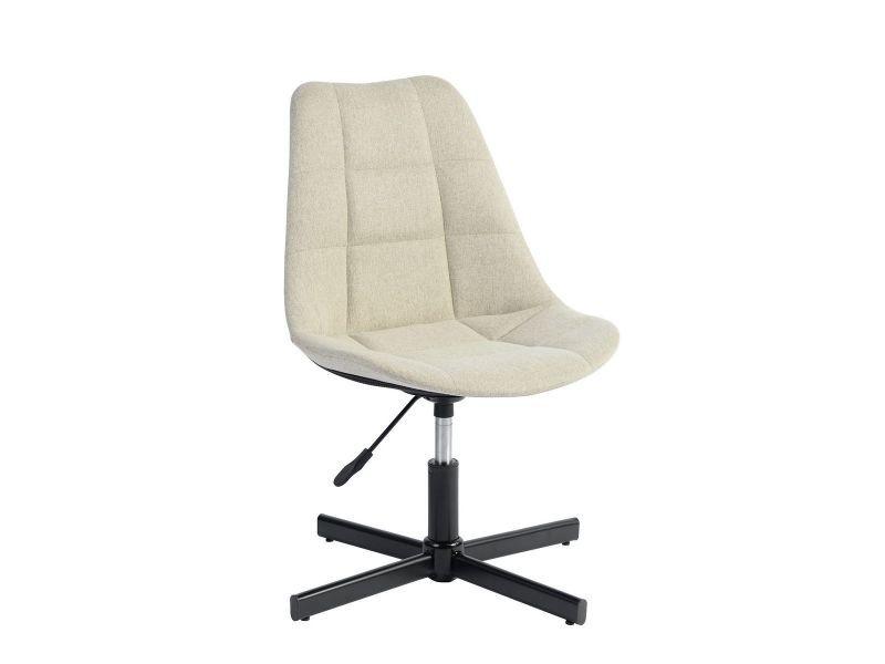 Chaise De Bureau En Tissu : Milly chaise de bureau tissu beige vente de altobuy conforama