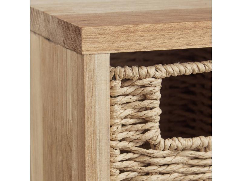 Etagere 4 cubes rangement panier amovible bois 61,5 cm helloshop26 ...