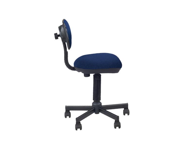 chaise de bureau bleu sans acoudoir