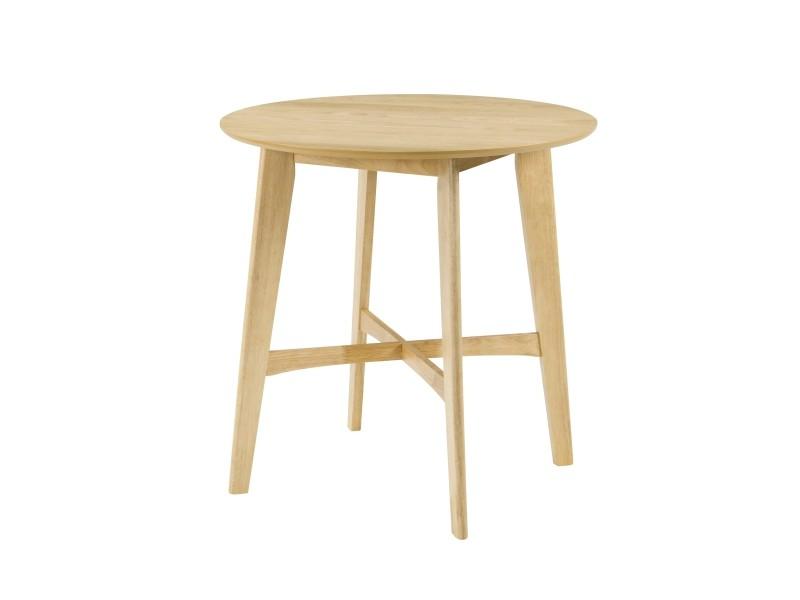 Table de bar ronde ∅90 cm noto en bois clair