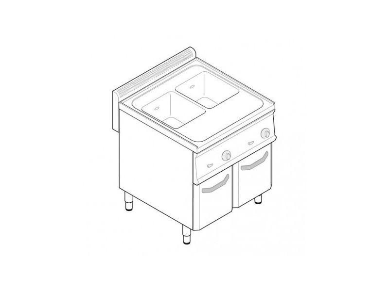 Cuiseur a pates professionnel électrique 2 cuves - tecnoinox - 700