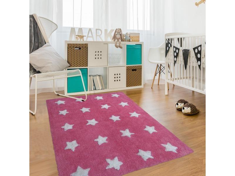 Etoile rose 140 x 140 cm tapis pour enfants chambre par ...