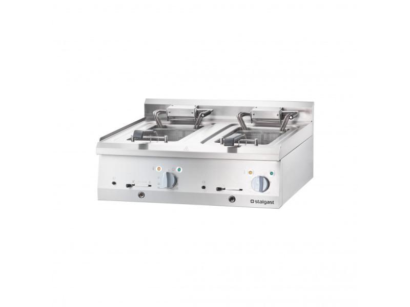 Friteuse électrique à poser 2x 10 l 18 kw - stalgast -