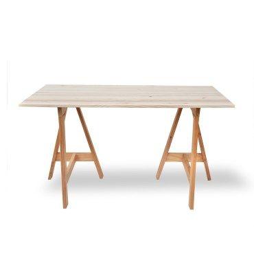 Bureau bois massif tr teau gain de place vente de europe et nature conforama - Bureau avec treteau ...