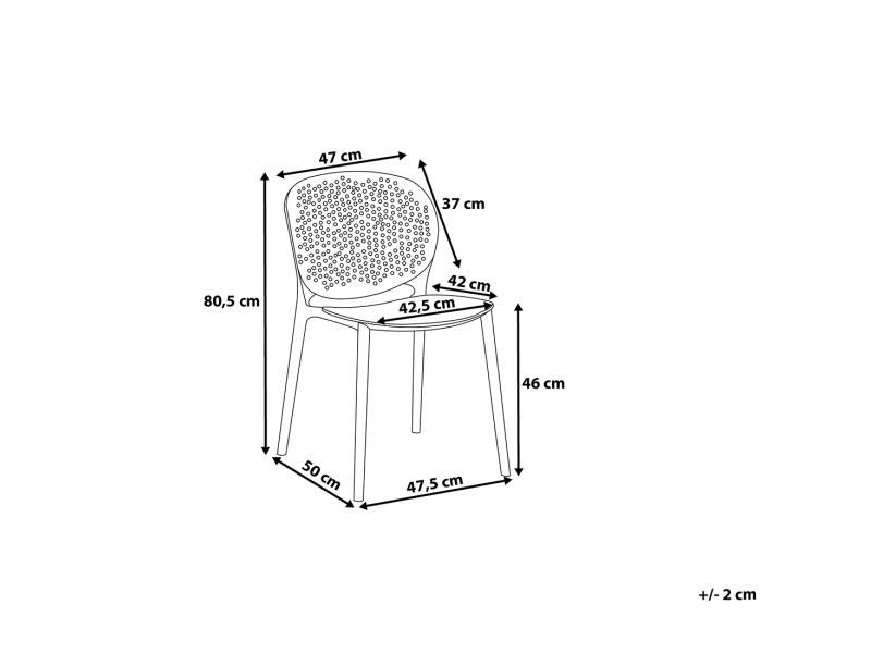 Chaise de jardin rose en plastique holmdel 52665 - Vente de ...