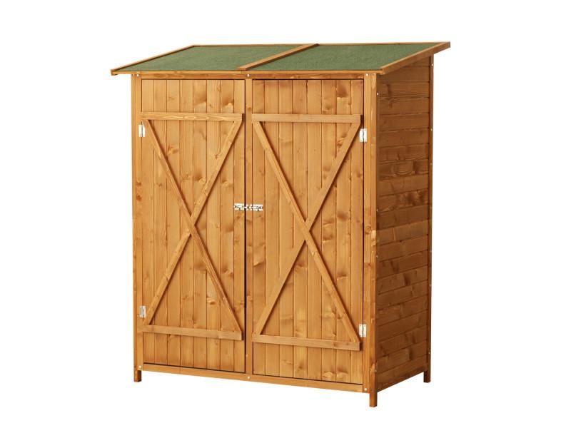 Meuble armoire abri de jardin rangement outils exterieur en bois ...