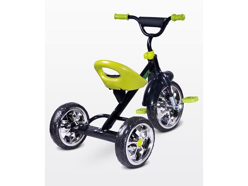 Lork - tricycle bébé enfant - dès 3 ans - cadre en acier - 3 roues en mousse - jusqu'à 25 kg - pédales anti-dérapantes - - vert