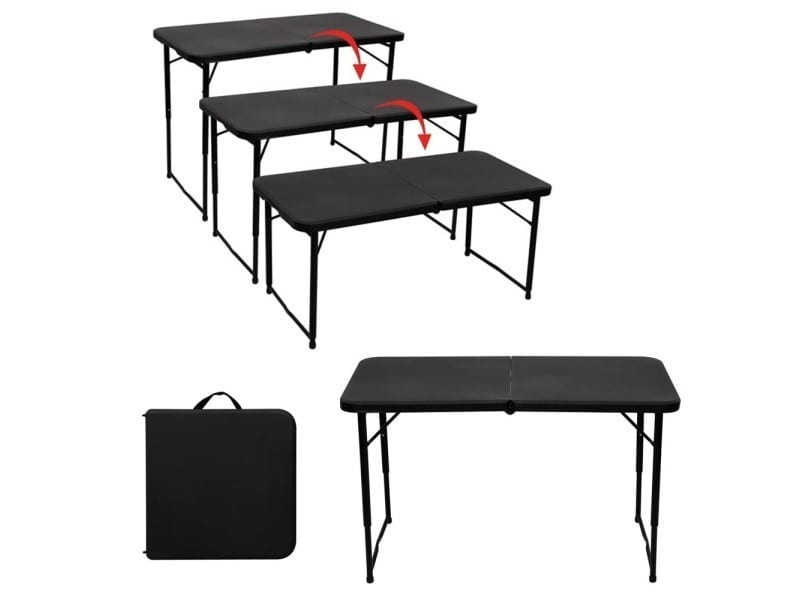 table pliante interieur exterieur hauteur reglable vente de toolland conforama. Black Bedroom Furniture Sets. Home Design Ideas