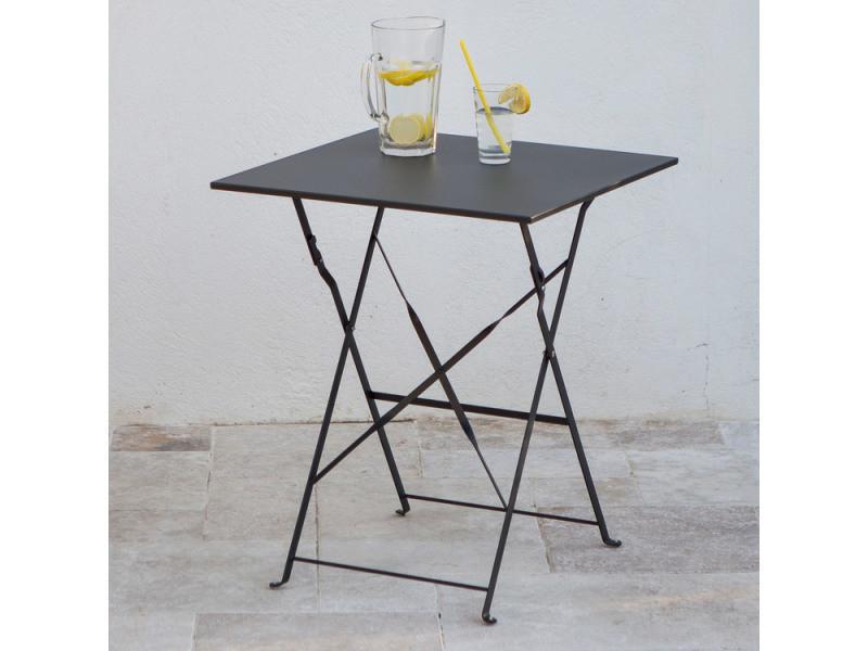 Table carrée pliante en acier 60x60cm pop - Vente de Salon de jardin ...