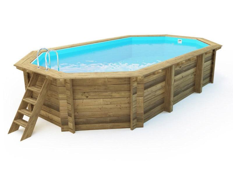 piscine bois brazilia x x m pompe. Black Bedroom Furniture Sets. Home Design Ideas