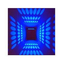Applique murale cubique avec diffuseur de lumière en aluminium  bleu