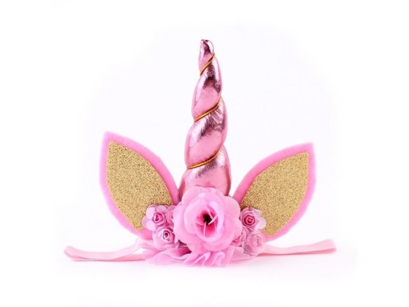 c6648e0f3f959 Bandeau rose enfants mode belle licorne fleur forme partie décoratif  cheveux hoop