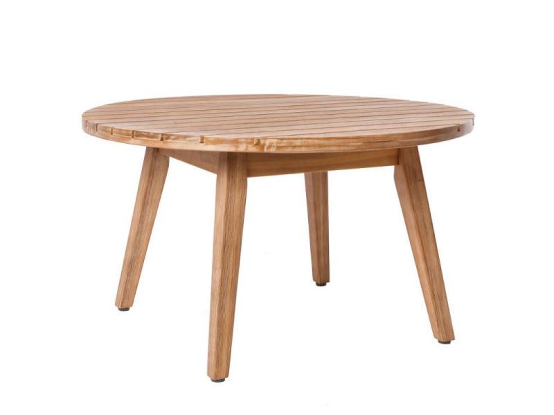 Table basse d'extérieur en bois - huraa - l 70 x l 70 x h 40 - neuf