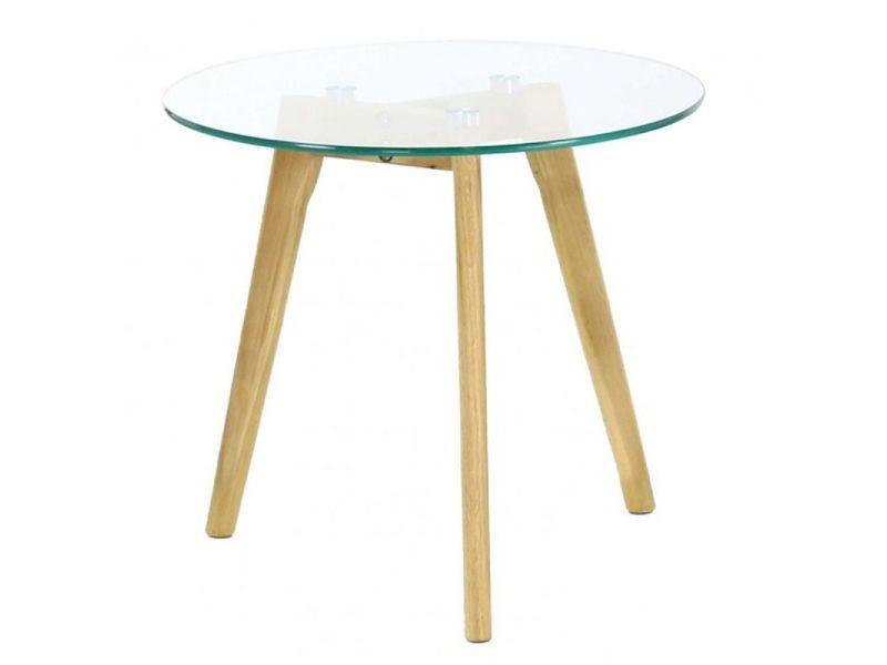 Paris prix - table basse verre & bois \