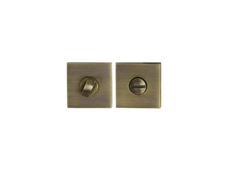 Rosaces carrées à condamnation - finition bronze x2 R2003BRO