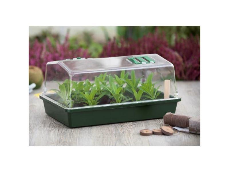 Mini-serre - pack germination - pack bouturage mini serre terrine et couvercle ventilé 37x24x18 xm