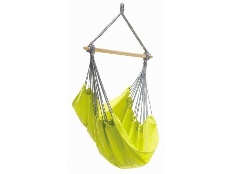 Chaise hamac simple en coton vert panama