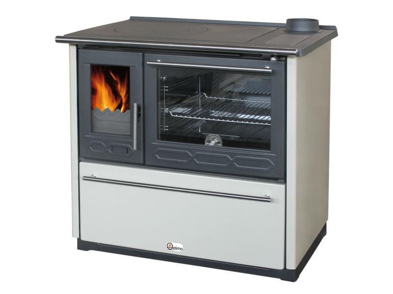 Optimo cuisinière à bois avenio h 15kw bouilleur hydro ivoire ...