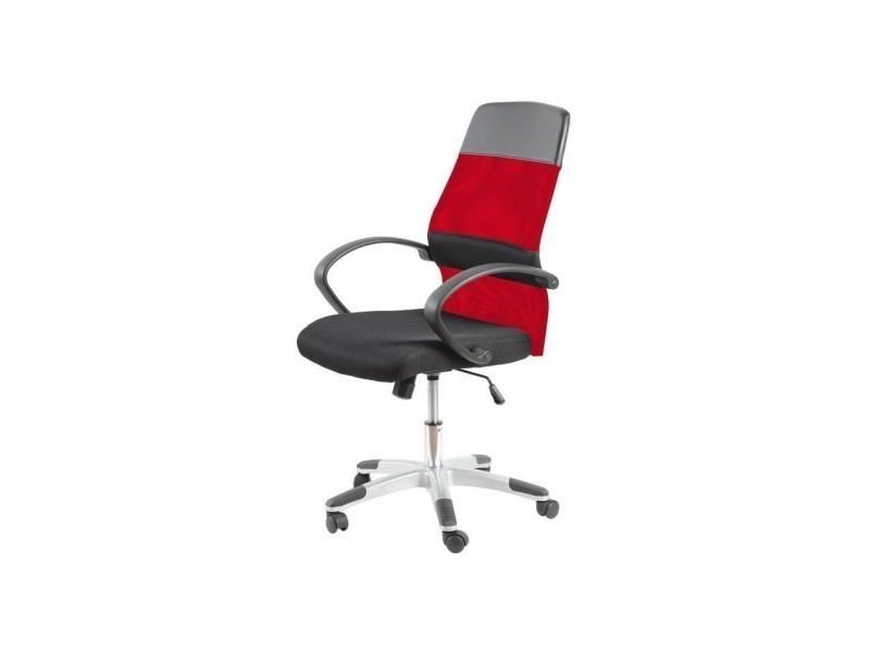Davis fauteuil de bureau tissu noir et rouge contemporain l 60