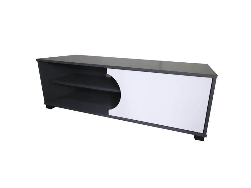 Subleem meuble tv 120 cm dorta 1 porte noir