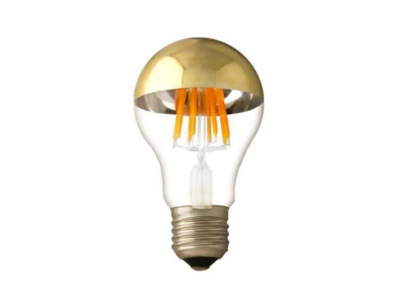 Ampoule e27 led filament 7w a60 reflet or - blanc chaud 2300k - 3500k