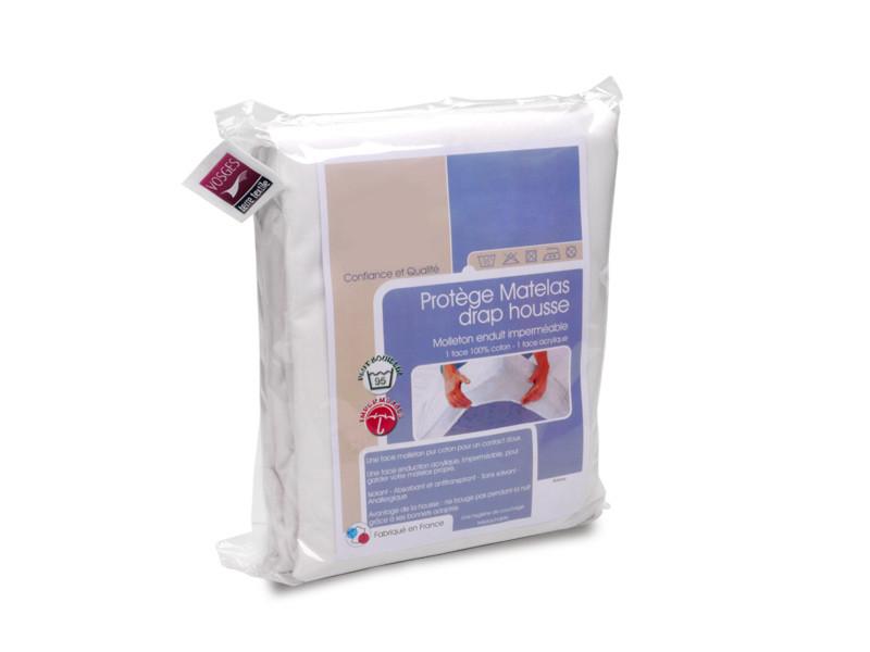 Protège matelas imperméable antony blanc 60x120